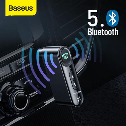 Foto Produk BASEUS CAR BLUETOOTH RECEIVER AUX 3.5MM WIRELESS AUDIO RECEIVER - Hitam dari Baseus Official Store