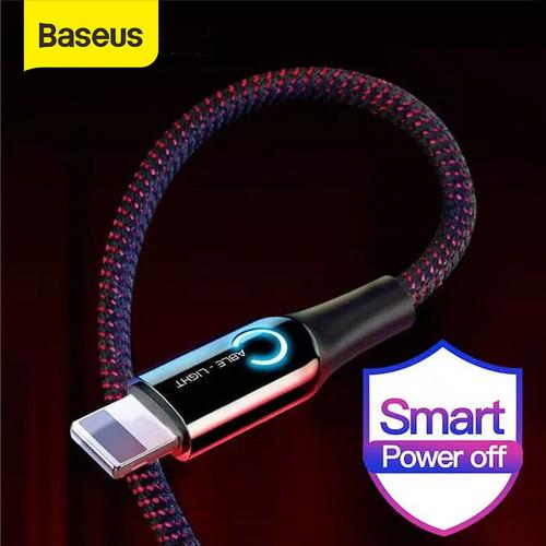 Foto Produk KABEL DATA IPHONE BASEUS AUTOMATIC POWER-OFF FAST CHARGING 2.4A - Hitam dari Baseus Official Store