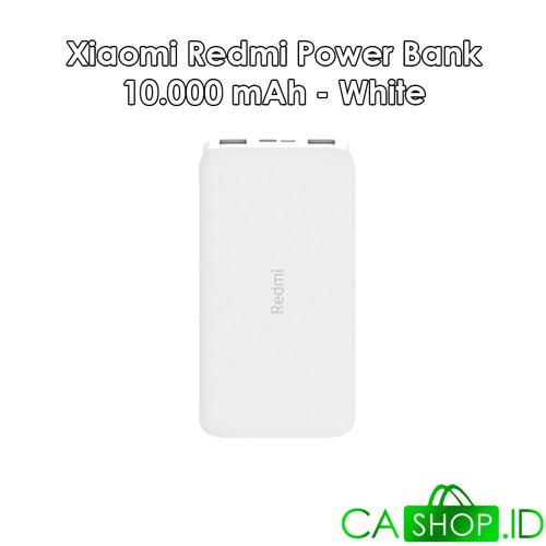 Foto Produk Xiaomi Redmi Power Bank 10000mAh Port Ganda ORI 100% GRS Resmi TAM - Putih dari CA Shop
