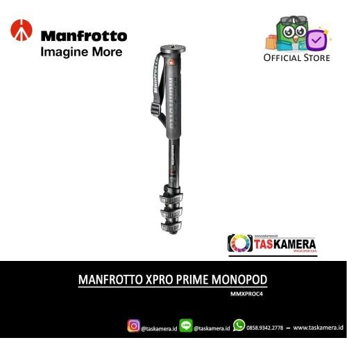 Foto Produk Manfrotto XPRO PRIME Monopod 4 sections Carbon MMXPROC4 - TasKameraID dari taskamera-id