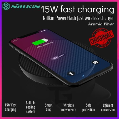 Foto Produk NILLKIN PowerFlash 15W Qi Wireless Charger Fast Charging Charge Pad dari TopGear Superhero ID