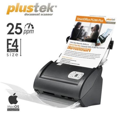 Foto Produk Scanner Plustek SmartOffice PS286 Plus - 25 Lembar/menit (F4/Folio) dari Scanner Plustek