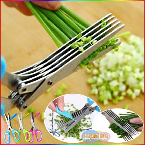 Foto Produk Gunting 5 Lapis / Gunting Daun Bawang Gunting Sayur Dapur - X033 dari HARIKU Shop