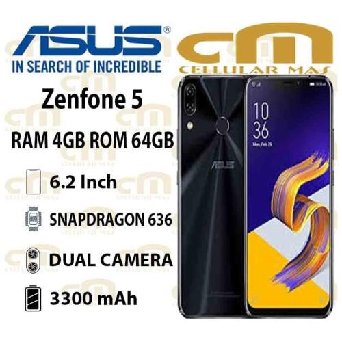Foto Produk Asus Zenfone 5 ZE620KL 4/64 GARANSI RESMI ASUS - Silver dari Cellular Mas