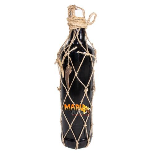 Foto Produk Madu Hitam Asli dari Hutan Baduy. Botol Kaca 600ml + Keranjang. dari Madu Baduy