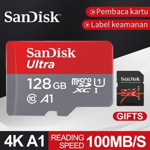 Foto Produk SanDisk 128GB Kartu Memori 100MB/S Ultra Microsd SD With Adapter Card dari fantasii store