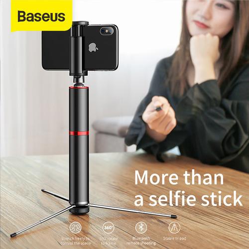 Foto Produk BASEUS SELFIE STICK / TONGSIS BLUETOOTH SHUTTER TRIPOD HOLDER dari Baseus Official Store