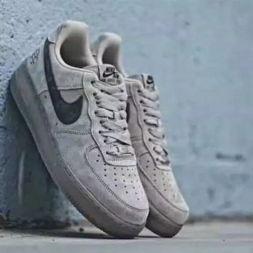 Reigning Champ X Nike Air Force 1 Low Grey Suede For Men Premium