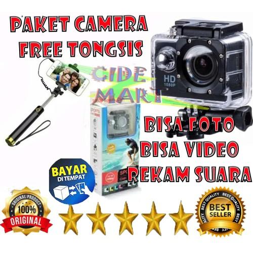 Foto Produk (PAKET CAMERA) CAMERA ACTION ULTRA HD 1080P WATERPROOF BONUS TONGSIS dari Duocide Shop