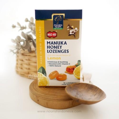Foto Produk Manuka Health MGO 400+ With Lemon Lozenges dari Nourish Indonesia