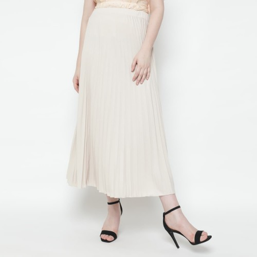 Foto Produk Eiza by duapola Plisket Aline Maxi Skirt 7176FS (Soft Colors) - Dusty Pink dari Eiza