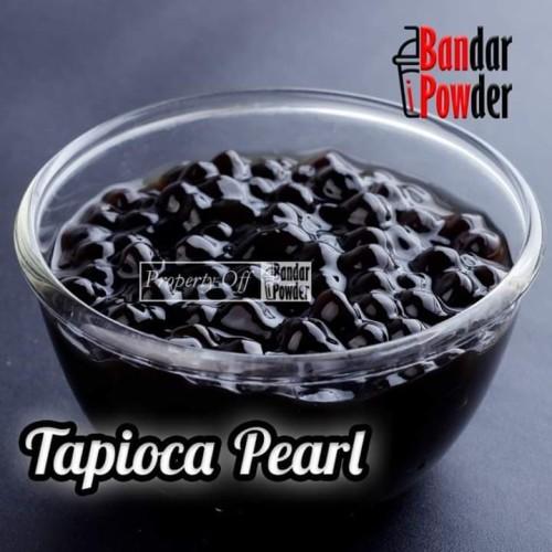 Foto Produk Black Boba 1kg Tapioca Pearl Bubble Tea Hitam Topping Tapioka Buble dari Bandar Powder Tangerang