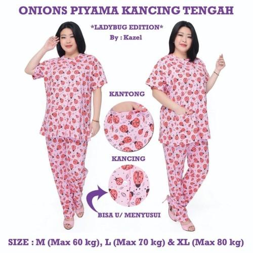 Foto Produk Onions Piyama Kancing Tengah - Celana Panjang - LADYBUG M dari Kazel Babywear
