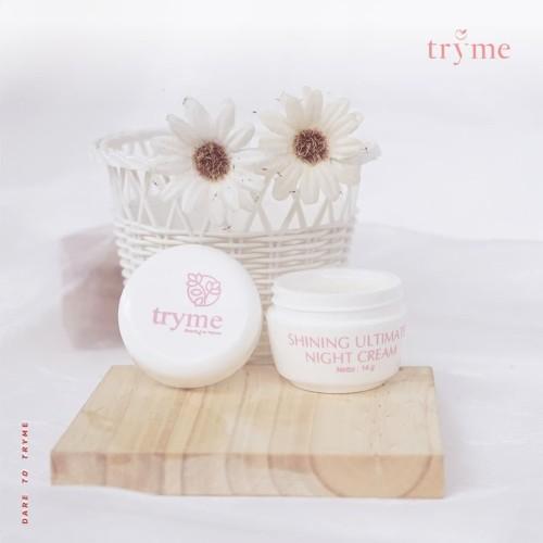 Foto Produk Tryme Night Cream, Krim Malam Nati Aging dan Anti kerut BPO dari DELASHA STORE