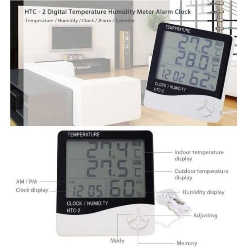 Foto Produk Hygrometer Thermometer HTC-2 Digital LCD Higrometer Termometer Ruangan dari barangbagus