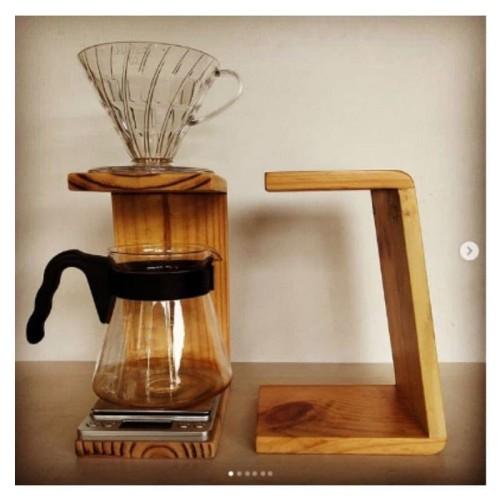 Foto Produk Stand Dripper Kayu Set V60 Flat Bottom Wood Coffee DIY Alat Kopi dari gaharu