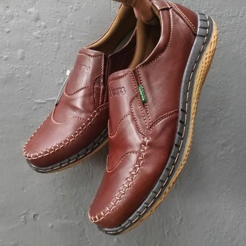 Foto Produk Kickers Sepatu Kulit Asli Casual Pria Slip On Murah Kode KC.6 dari rif&lif store