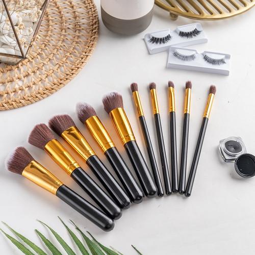 Foto Produk RUMAUMA Makeup Eye Brush 10 IN 1 Blush - Kuas Tebal Lembut Terbaru - Hitam dari Rumauma
