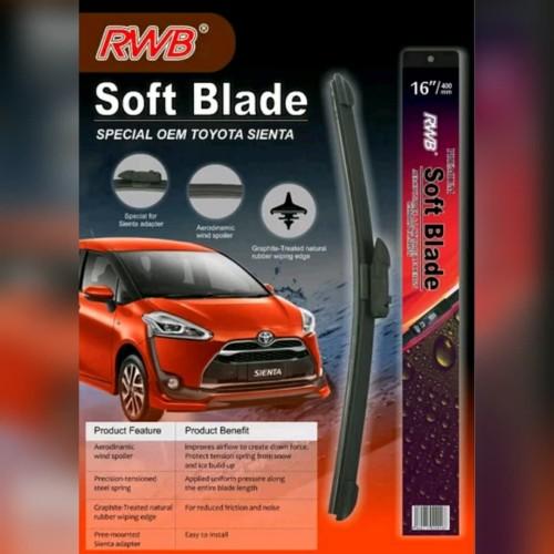 Foto Produk wiper khusus toyota sienta 1set ukuran 14in dan 26in dari sporty variasi mobil