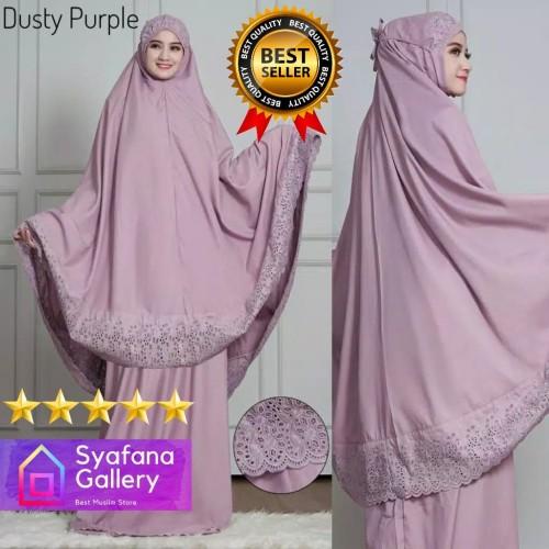 Foto Produk Mukena Bordir Katun Siti Khadijah Dewasa Adem dari Syafana Gallery