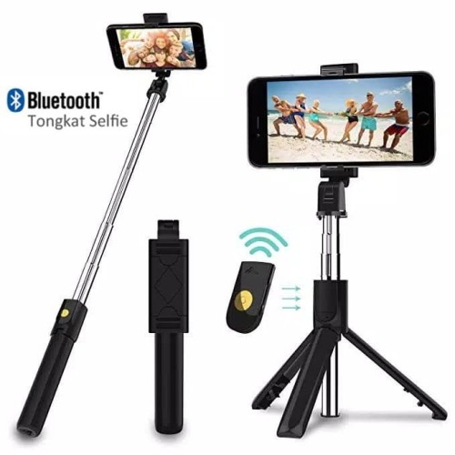 Foto Produk INBEX Tongsis Bluetooth Selfie Stick Tripod Tomsis with Remote Shutter dari INBEX Official Store