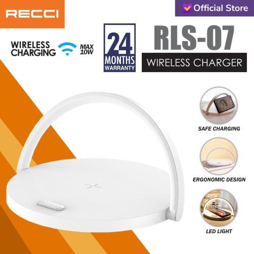 Foto Produk Recci Wireless Charger RLS-L07 Putih - Putih dari Recci Official Shop ID