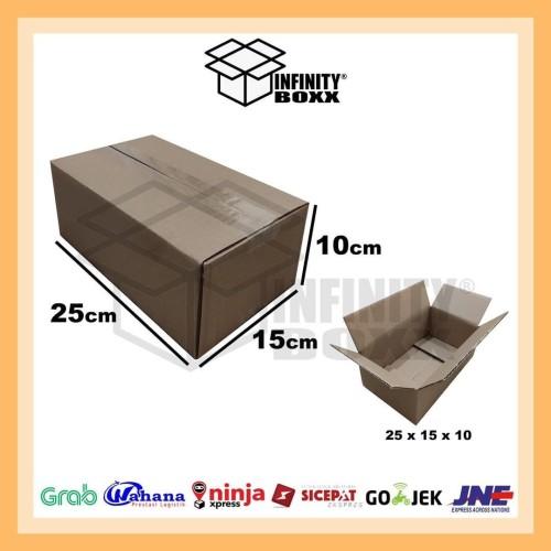 Foto Produk kardus box packaging packing 25x15x10 cm dari infinity boxx