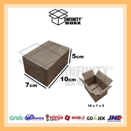 Foto Produk kardus box luar polos packaging packing 10x7x5 cm dari infinity boxx
