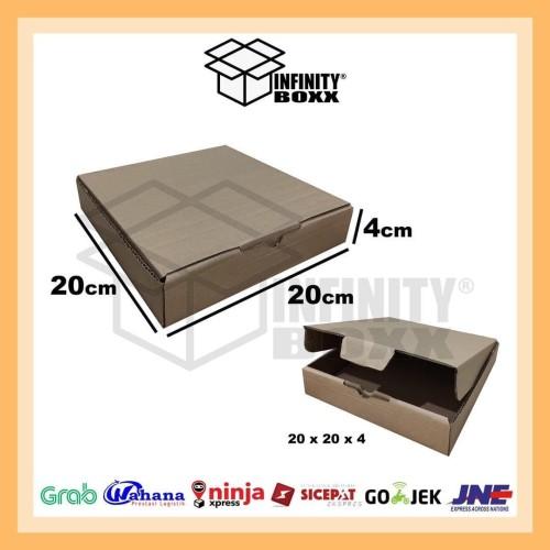 Foto Produk kotak kardus box pizza die cut ukuran 20x20x4 dari infinity boxx