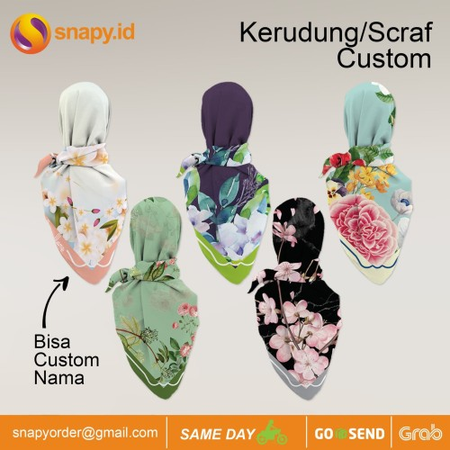 Foto Produk Cetak Scarf/Kerudung Custom bahan voal Premium dari snapy