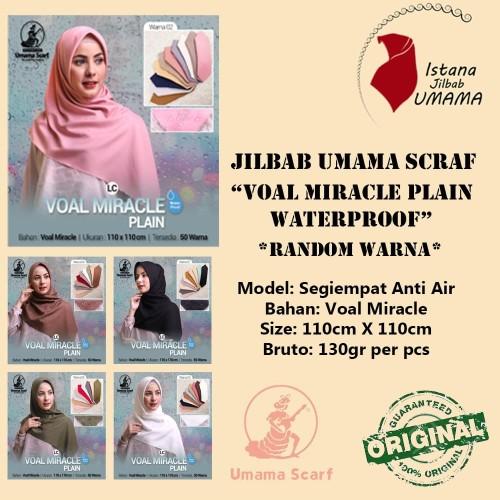 Foto Produk Kerudung ANTI AIR Jilbab VOAL MIRACLE Plain WATERPROOF LC RANDOM Warna dari Istanajilbabumama