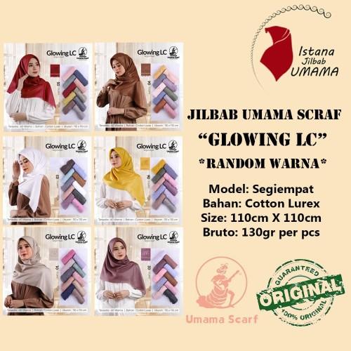 Foto Produk Jilbab Umama GLOWING LC kerudung segiempat Mewah & Elegan RANDOM Warna dari Istanajilbabumama