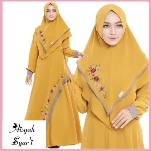 Foto Produk Baju Gamis Set Syari Wanita Terbaru Aresya Syari Baju Setelan Muslim dari Grosir Hijabers