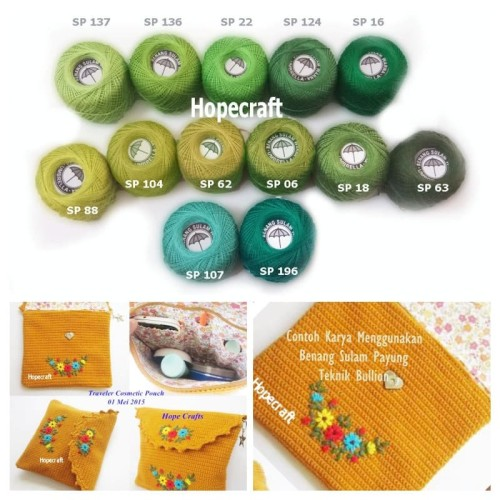 Foto Produk Benang Sulam Merk Payung - 137 Hijau Mint dari Gita Galeri Rajut
