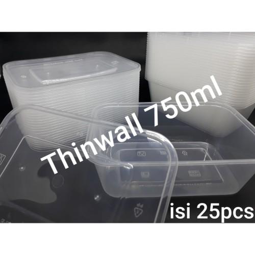 Foto Produk THINWALL PANJANG 750ML ISI 25 PCS - KOTAK MAKAN ANTI PANAS dari BCA PACK