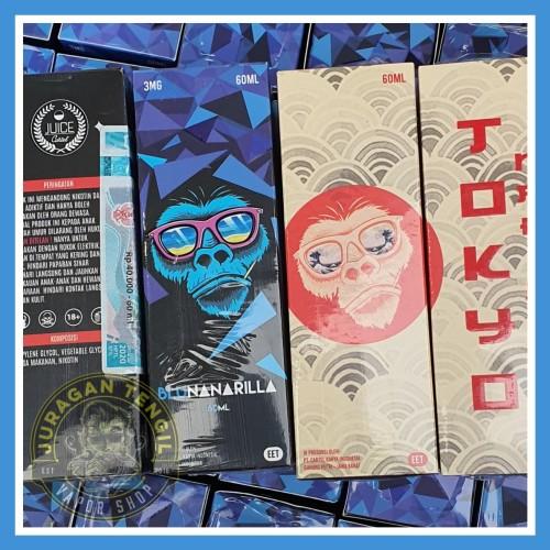 Foto Produk LIQUID TOKYONARILLA BANANARILLA BLUNANARILLA DEWNANARILLA 3MG 6MG 60ML dari Juragan Tengil