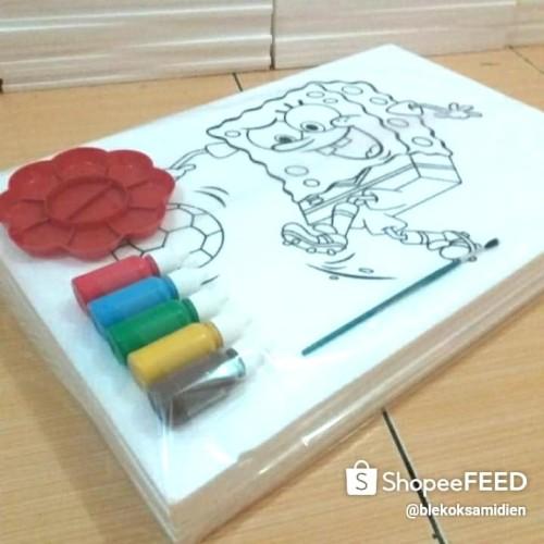 Foto Produk styrofoam lukis/mewarnai 1 set 6 gambar karakter dari www.sterofoamset.co