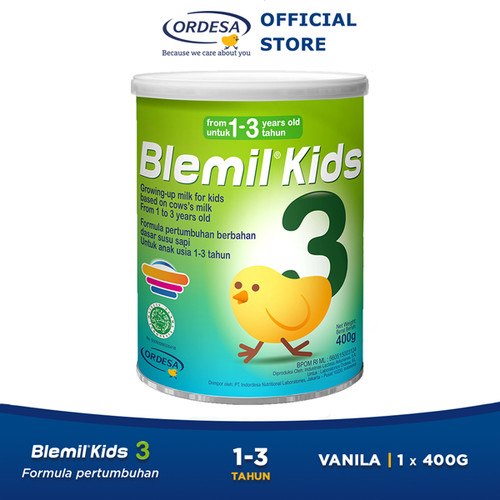 Foto Produk Blemil Kids 3 Susu Anak (1- 3 Tahun) - 400gr dari Blenutenblemilkids