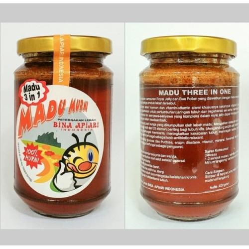 Foto Produk Madu 3in1 Bina Apiari - Madu Murni Bee Pollen Royal Jelly dari Herbis