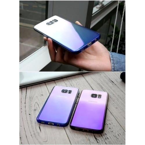 Foto Produk Blueray samsung galaxy S6 EDGE hard case aurora slim cover hardcase dari acosonic