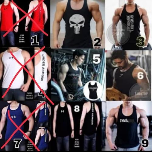 Foto Produk singlet kaos gym fitness pria olahraga dari Bolapedia