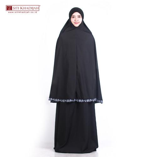 Foto Produk MUKENA SITI KHADIJAH BRODERI ROSE - Hitam dari Mukena Siti Khadijah
