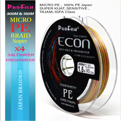 Foto Produk Senar MICRO PE Profish Econ 300M - Multi, PE 0.6 dari Falcon Indoesia