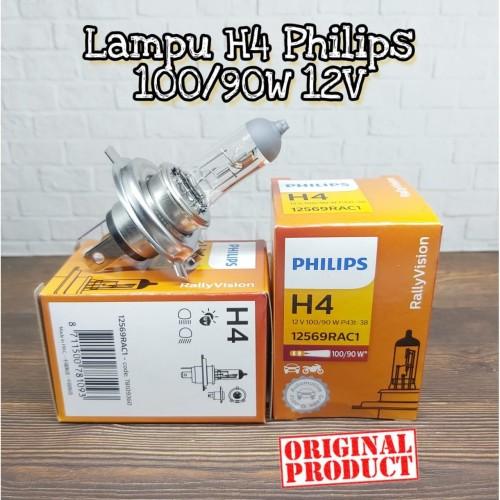 Foto Produk BOHLAM PHILIPS LAMPU HEADLAMP MOBIL H4 100/90 W 12V ORI (GROSIR MURAH) dari Millenium Autopart