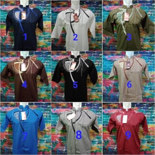 Foto Produk Baju Koko Lengan Pendek Bahan Katun Pria Dewasa Harga Grosir Terbaik dari faisalshop12