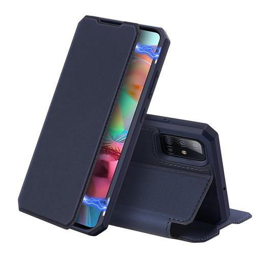 Foto Produk Case Samsung A71 - SKIN X Series, Dux Ducis Premium Flip Case - Biru dari Gojali