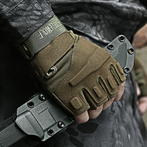 Foto Produk Sarung Tangan Kulit Blackhawk HYBZ Tactical Gloves 6024B - Cokelat XL dari first tactical