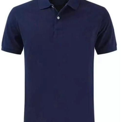 Foto Produk Polo shirt cotton pique polos uk. XXL warna Blue Navy dari onlinekaosaja