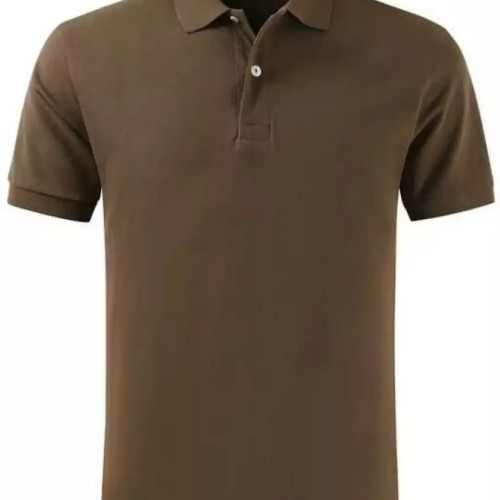 Foto Produk Polo shirt cotton pique polos uk. XXL warna Cokelat Kopi dari onlinekaosaja