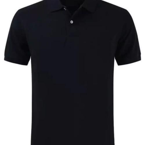 Foto Produk Polo shirt cotton pique polos uk. M,L,XL warna Black Solid dari onlinekaosaja